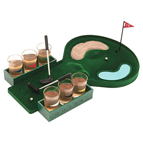 B&F SPDGOLF Golf Shot Glass Drinking Game Set ()