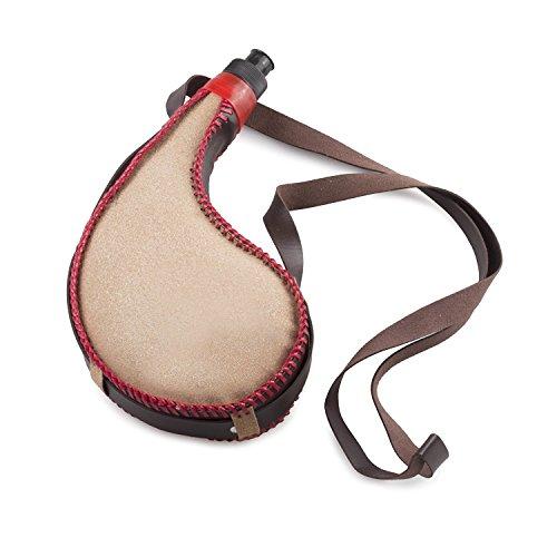 NextClimb Bota Bag – 750ml Spanish Wine Skin – LEAK-PROOF Premium Leather Canteen With Rigid Heavy-Duty BPA-Free Bladder Liner and Comfortable Shoulder Strap (Clean Design)