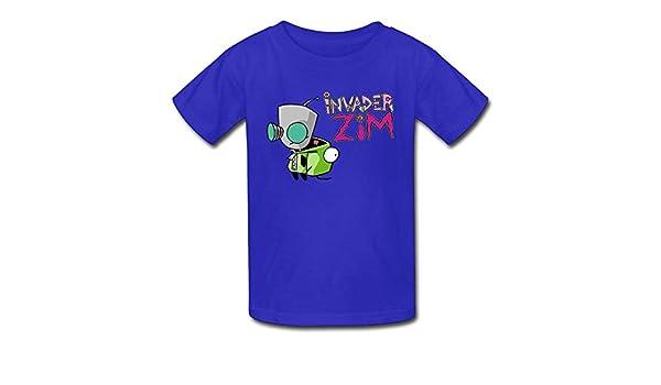 6-24 Month Baby T-Shirt Invader Zim Gir Doom Logo Personalized Fashion Customization Black