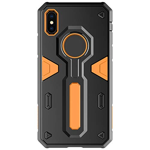 BSDK Mobile Phone Case, Shock Absorption Anti-Fall Camouflage TPU + PC Hard Shell Compatible with iPhone X iPhone Xs,Orange