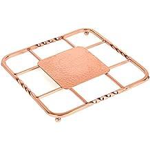 """Creative Home 50234 Renaissance Square Trivet, 8"""", Copper"""