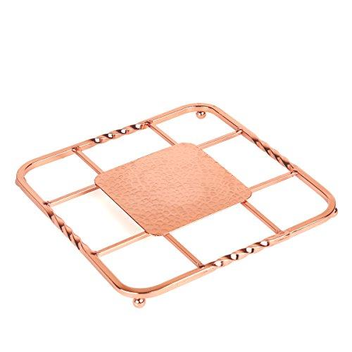 Copper Trivet - Creative Home 50234 Renaissance Square Trivet, 8
