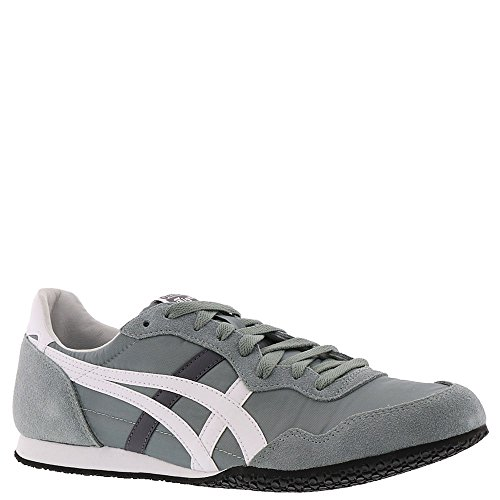 Tiger Leather Sneakers (Onitsuka Tiger Asics Unisex Serrano¿ Chinois Green/White Men's 13 Medium)