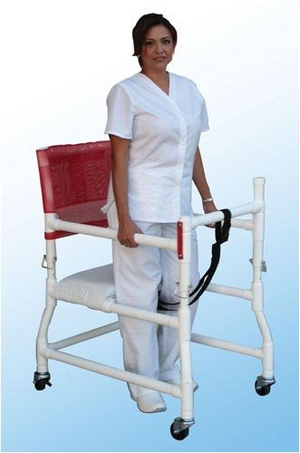 `Walker PVC w/Ht Adj Arms & Seat-Standard w/o ()