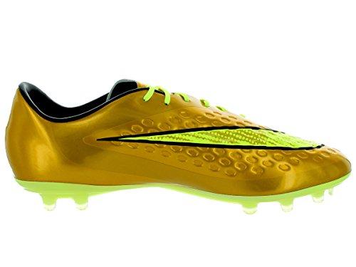 Nike Men Hypervenom Phatal Prem Fg Tacchetta Da Calcio Mtlc Gld Cn / Blk Tr Yllw / Lcky G