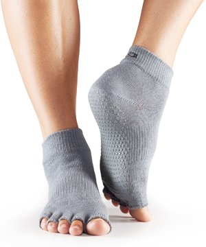 ToeSox Half Toe Toe Socks, Grey, Small from ToeSox