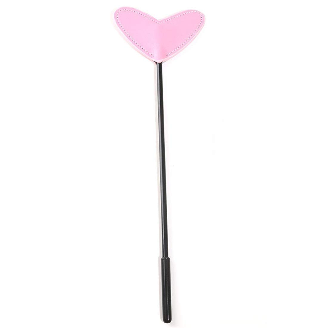 Qbyoot Adult Sexy Feather Leather Love Heart-Shaped Spanking Paddle by Qbyoot
