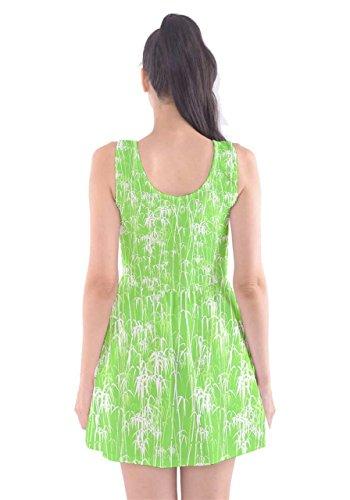 CowCow - Vestido - para mujer Green & White