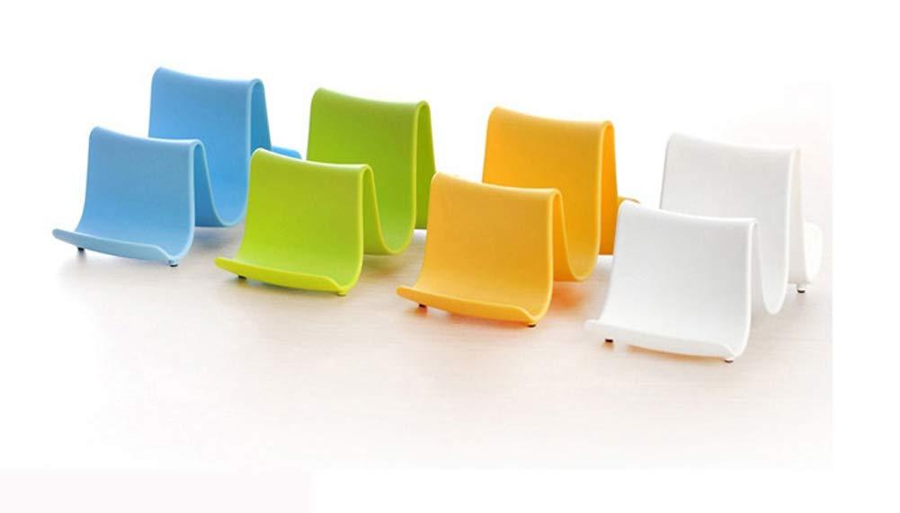 1 St/ück Topfdeckel-Regal-Topf Pfanne Deckel L/öffel Halter Rack Wave Form Utensil Organisator gelb