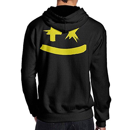 JIMI 男性着 個性的な マーティン ギャリックス シンガー ロゴ スウェットシャツ フード付き 野外活動 パーカー Black