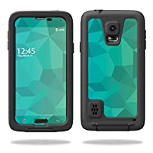 MightySkins Protective Vinyl Skin Decal for LifeProof Samsung Galaxy S5 Case wrap cover sticker skins Blue Green Polygon