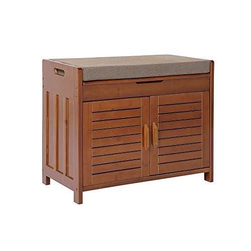 Shoe rack & Shoe Bench & Shoe Cabinet & Detachable Cushion with Hidden storage compartment (Bathroom Storage Cushion Bench With)