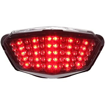 Integrated Sequential LED Tail Lights Smoke Lens for 2008-2012 Kawasaki Ninja 250R