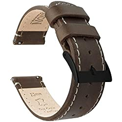 Image of the product 22mm Saddle/Linen that is listed on the catalogue brand of BARTON WATCH BANDS.