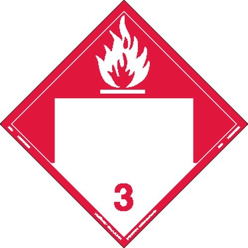 Labelmaster ZVR9 Combustible Liquid Hazmat Placard, Blank, Removable Vinyl (Pack of 25) by Labelmaster®
