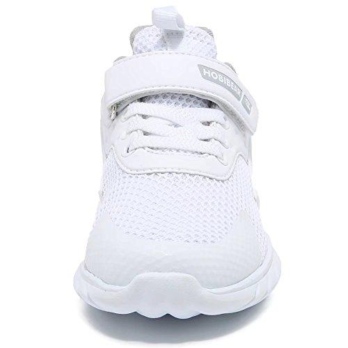 GUBARUN Kids Running Shoes Boys and Girls Lightweight Comfortable Walking Sneakers(12.5, White) by GUBARUN (Image #2)