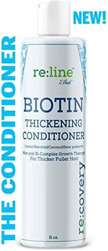 Biotin Hair Growth Conditioner for Hair Loss Natural Thickening Volume Conditioner for Fine Hair Volumizing Deep Treatment for Thinning Color Treated Hair Sulfate Free with Castor Oil for Woman & Men