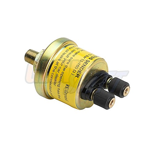 100 Psi Oil Press - GlowShift Replacement 2 Post Oil Pressure Gauge Sensor Sending Unit 1/8-27 NPT Thread