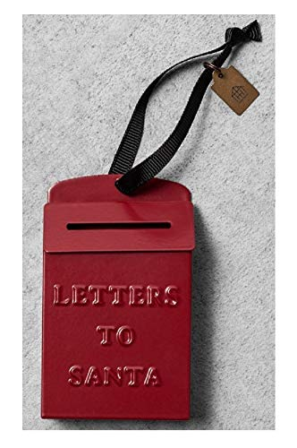 Hearth & Hand Magnolia - Letters to Santa Red Metal Mailbox Christmas Ornament - Classic Traditional