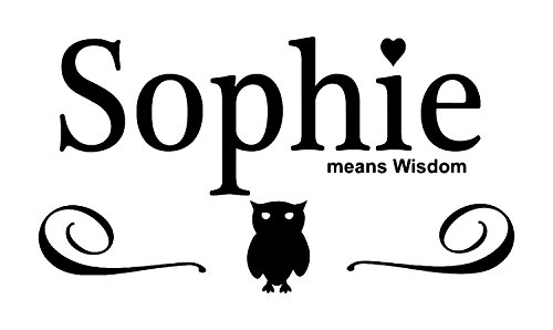- Sophie Girls Name Wall Decal is a Vinyl Wall Decal Displaying the meaning of the name Sophie which means wisdom. - WHITE