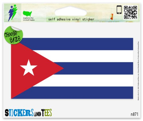 cuban flag car decal - 7