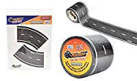"Maven Gifts: PlayTape Classic Road 3-Pack Bundle - 30' x 2"" Classic Road Series Black Road Roll with Classic Road Series Curves 2"" 2-Pack"
