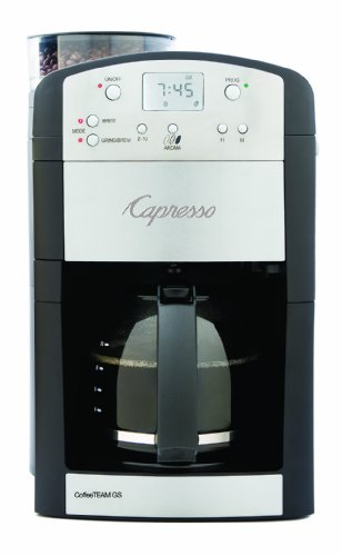 Capresso 464.05 CoffeeTeam GS 10-Cup Digital Coffeemaker with Conical Burr Grinder ()