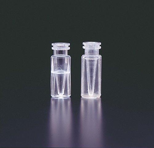 JG Finneran 30511CP-1232 Polypropylene Limited Volume Snap Ring Crimp Top Vials, Clear, 500µL Capacity (Case of 1000)
