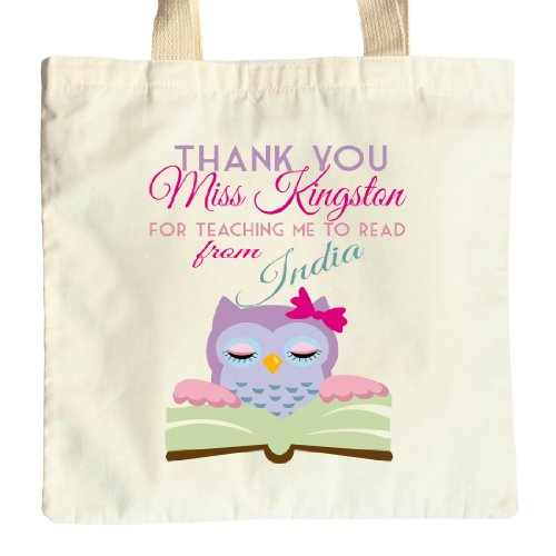 Personalised 'Reading'Teacher s fine del mandato Borsa regalo