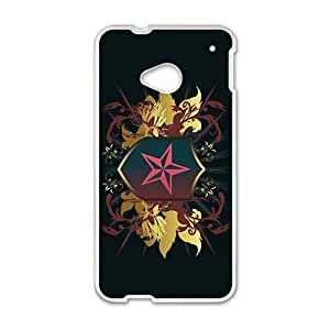 Black Star Badge Hot Seller High Quality Case Cove For HTC M7