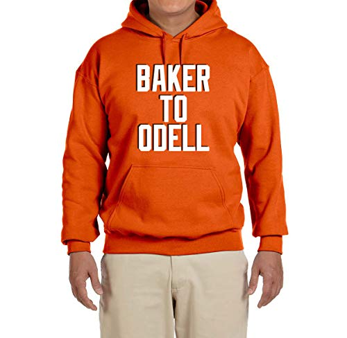 - Tobin Clothing Orange Cleveland Baker to Odell Hooded Sweatshirt Adult Medium