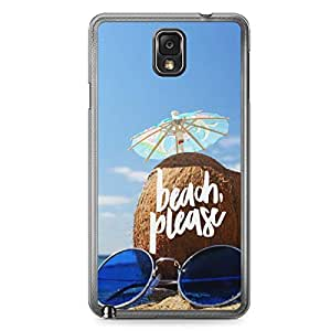 Beach Please Samsung Note 3 Transparent Edge Case - Beach Collection