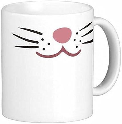 Par de bigotes de gato 15 oz tazas de café de cerámica por rápido tazas 2 U: Amazon.es: Hogar