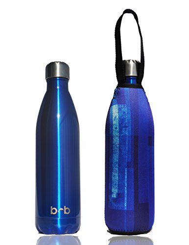 Wall Insulated Stainless Steel Water Bottle + Protective Carry Cover