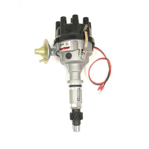 Pertronix D175510 Flame-Thrower Rover 8 cyl Plug and Play Vacuum Advance Cast Electronic Distributor with Ignitor Technology (Lucas Distributor Rotor)