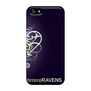 Durable Protector Case Cover With Baltimore Ravens Hot Design For Iphone 5/5s