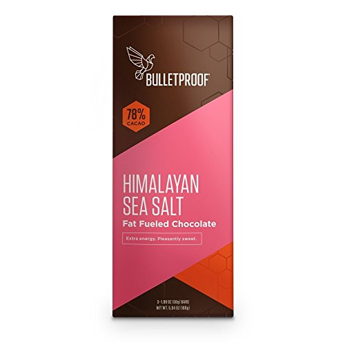Bulletproof Chocolate Food Bars – Himalayan Sea Salt (3Pack) NET WT. 5.94 OZ.