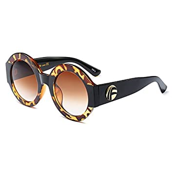 Burenqi@ Ronda de Marca Gafas de Sol Mujer Colores de Moda ...