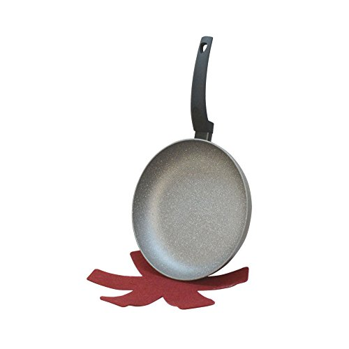 11' Non Stick Skillet (11'' Lava Stone Fry Frying Pan w/ Felt Pad Non Stick Scratch Resistant Skillet Eco Friendly)