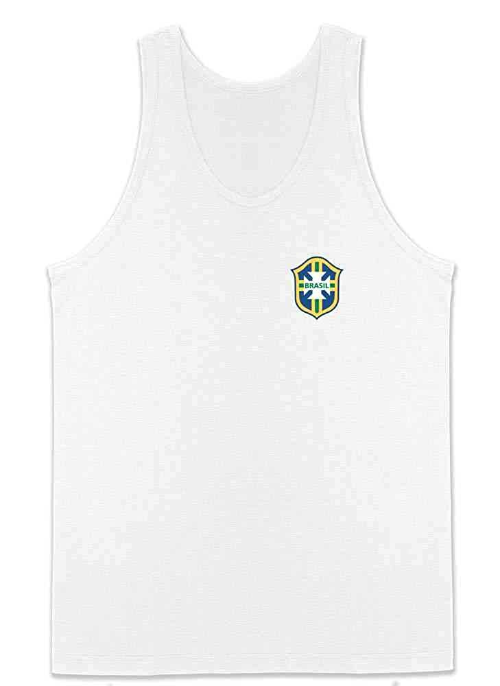 Brazil Futbol Soccer Retro National Team Football Mens Tank Top