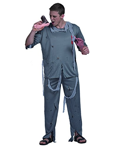 DressVoguer Halloween Men's Zombie Doctor Costume Stage Show Cosplay Clothes Suite]()
