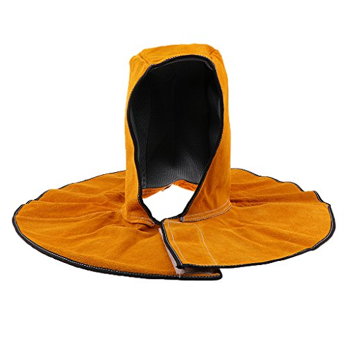 Dovewill Orange Welding Hood Protective Cover Head Neck Protection Welder Hat 50x25cm