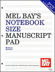 Mel Bay Notebook-Size Manuscript Pad 12-Stave