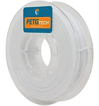 FFFworld 250 g. PETG Tech Blanco 1.75 mm. - Filamento PETG de Alto Rendimiento para Impresora 3D - petg Filament