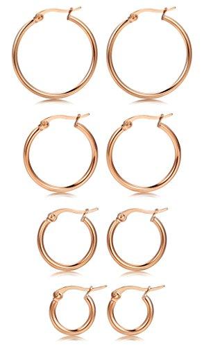 FIBO STEEL Stainless Earrings 12 22MM