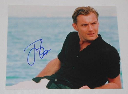The Talented Mr. Ripley Jude Law Hand Signed Autographed 8x10 Glossy Photo Loa