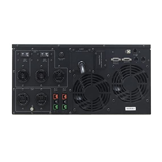 CyberPower PR5000LCDRTXL5UTAA Smart App Sinewave UPS System, 5000VA/4000W, 5 Outlets, AVR, Rack/Tower, TAA Certified 2 5000VA / 4000W Pure Sine Wave UPS - Pure Sine Wave UPS - designed to support Active PFC power supplies and conventional power supplies Line-Interactive Topology. Full AVR Buck/Boost & GreenPower UPS 5U Rack Mount/Tower convertible. Multi-function rotatable LCD display