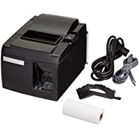 Star Micronics TSP100 Series, Thermal Receipt Printer, USB, Piano Black, includes cable, Internal Power Supply