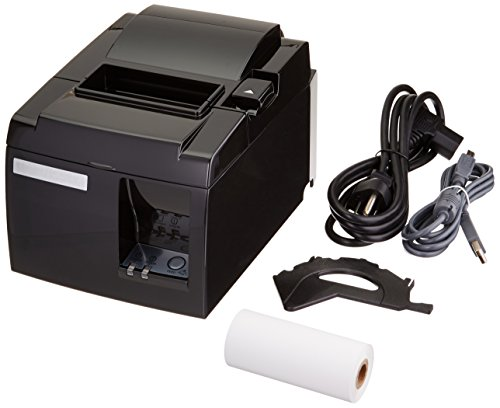 Star Micronics TSP100 Series, Thermal Receipt Printer, USB, Piano Black, includes cable, (Tsp100 Series)