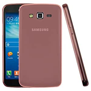0.45mm Ultra-thin Polycarbonate Material TPU & Jelly Case for Samsung Galaxy Grand 2 / G7106(Red)